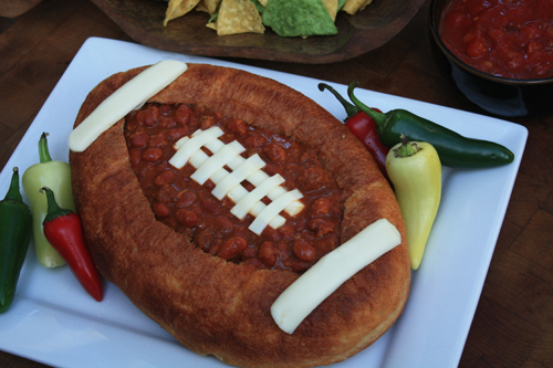 Post image for Chili Recipe in Football Bread