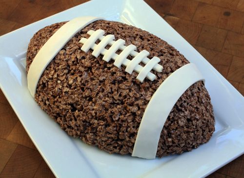 Post image for Football Cocoa Crispy Rice Treat